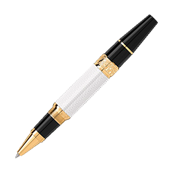 Instrumento de Escrita Montblanc Writers Edition William Shakespeare Preto e Branco Rollerball - 114350