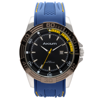 495351dba9e Relógio Akium Masculino Borracha Azul - TMG6974-2T IPB-BAND