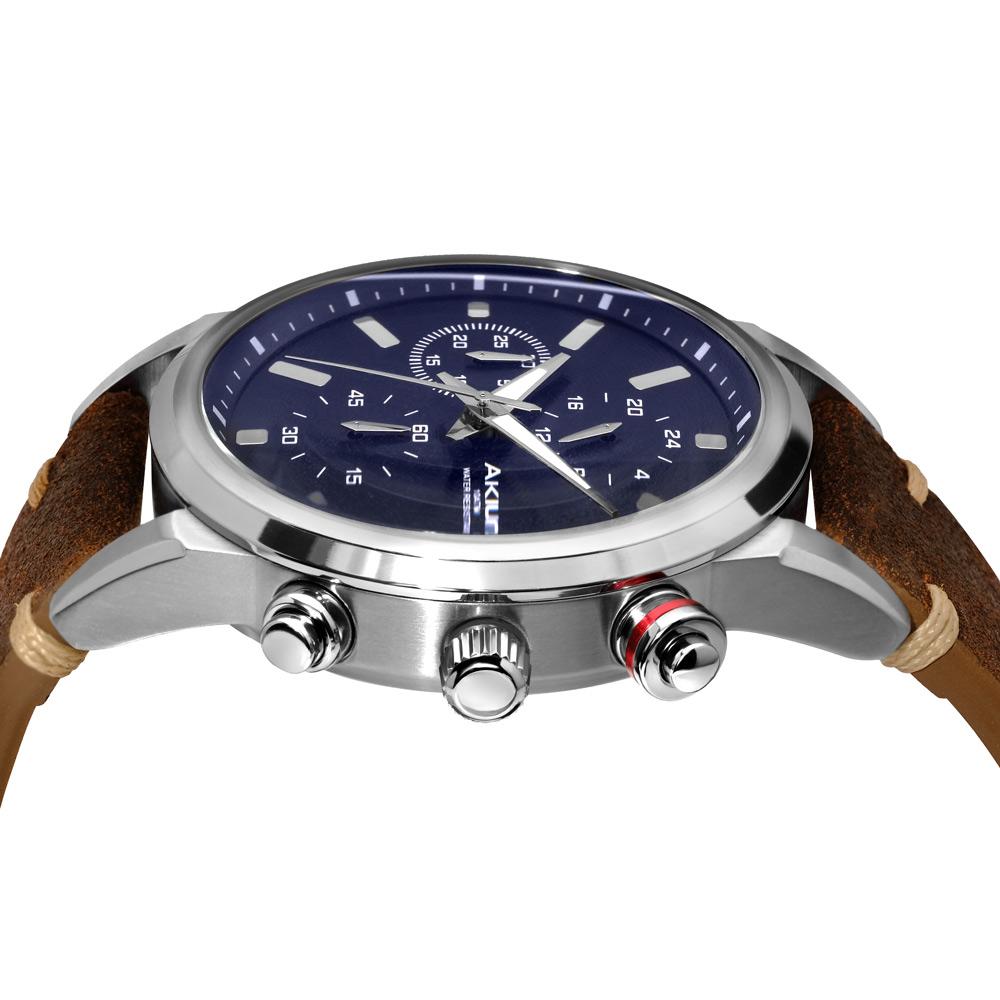 d3b3cb9ec4 Relógio Akium Masculino Couro Marrom - TMG6345N1-PNP-STRAP