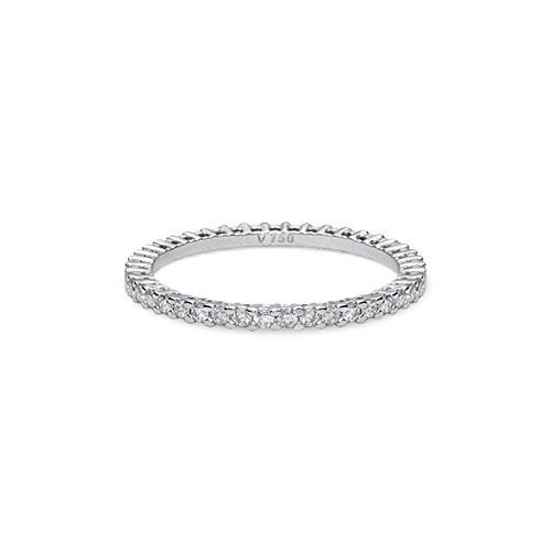 5308b1e07bb4d Aliança Absoluta Ouro Branco e 47,8 Pontos de Diamantes - Colecao Aliança  Absoluta