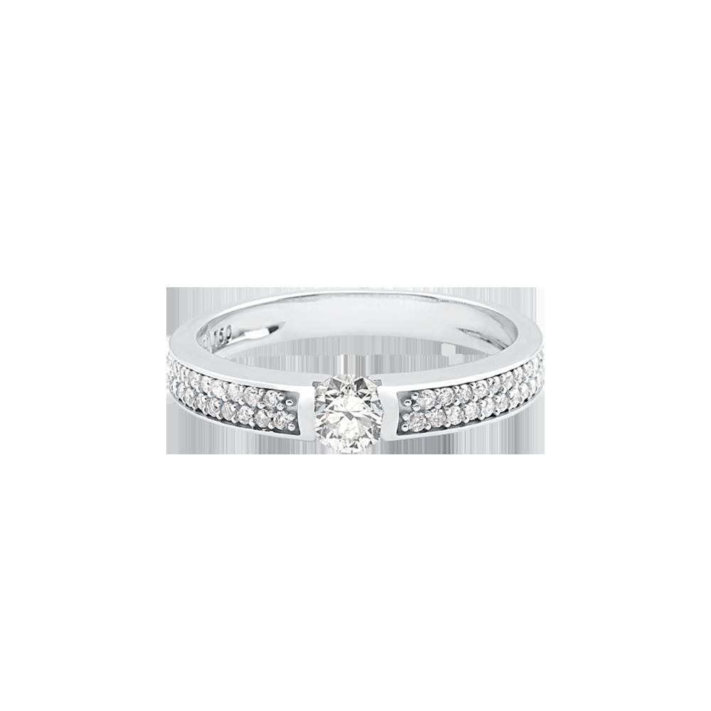Solitário Ouro Branco e 49 Pontos de Diamantes - Colecao Promise 0520fb7ecd