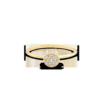 2b24e7f0fae42 Anel Ouro Amarelo e Diamantes