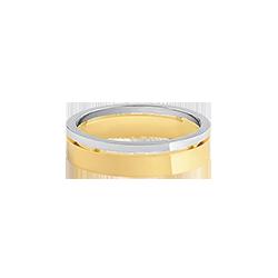 dbcb46911e4 Aliança de Casamento Ouro Amarelo e Branco (5mm)