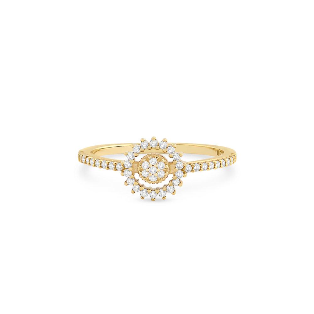 195090e9c9345 Anel Ouro Amarelo e Diamantes - Colecao Spot