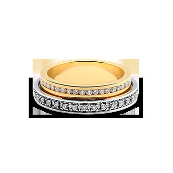 Aliança de Casamento Ouro Amarelo e Branco com Diamantes (5mm) da85f37c80