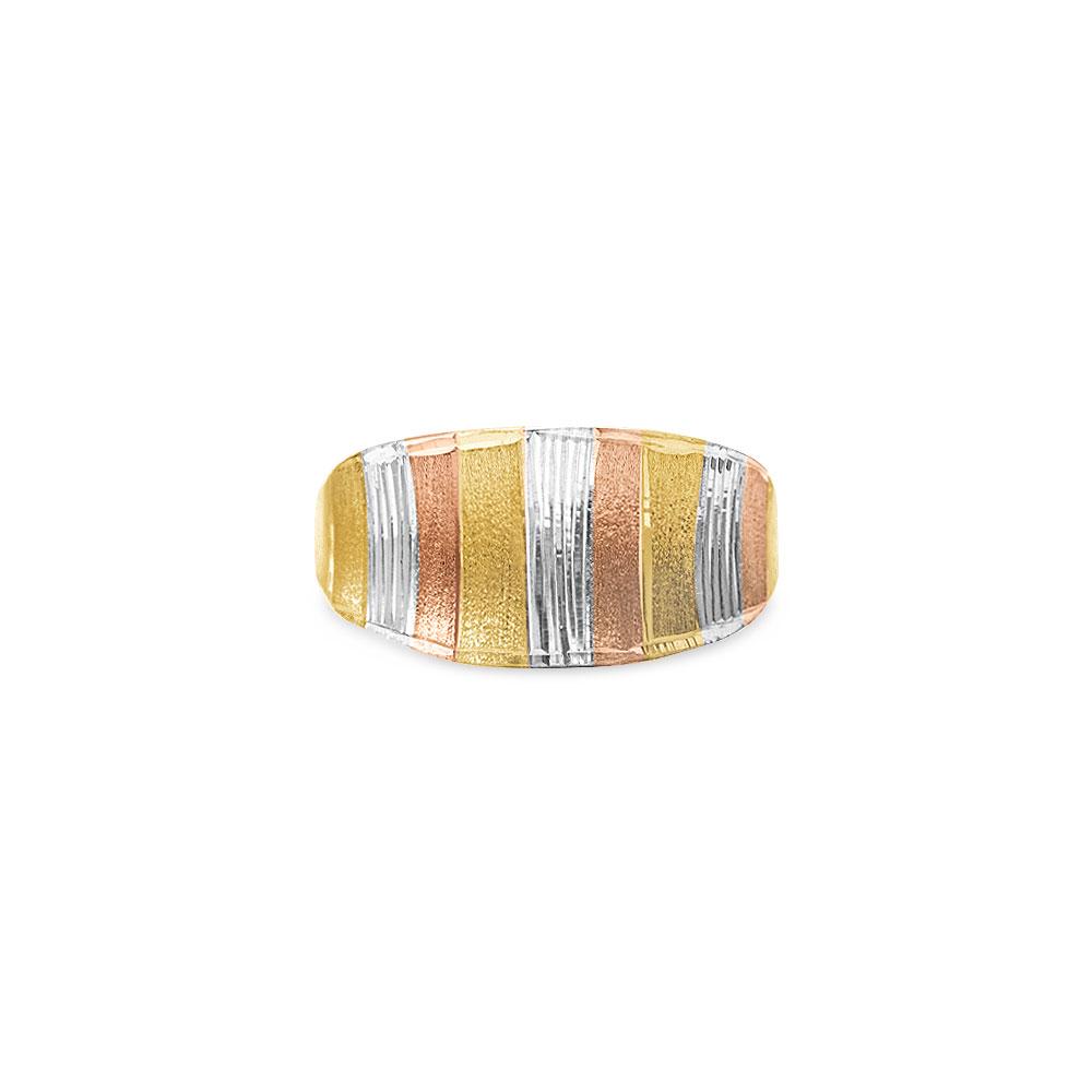 Anel Ouro Amarelo Ouro Rosé e Ouro Branco - Colecao Gold Tricolor 236dcb4d80