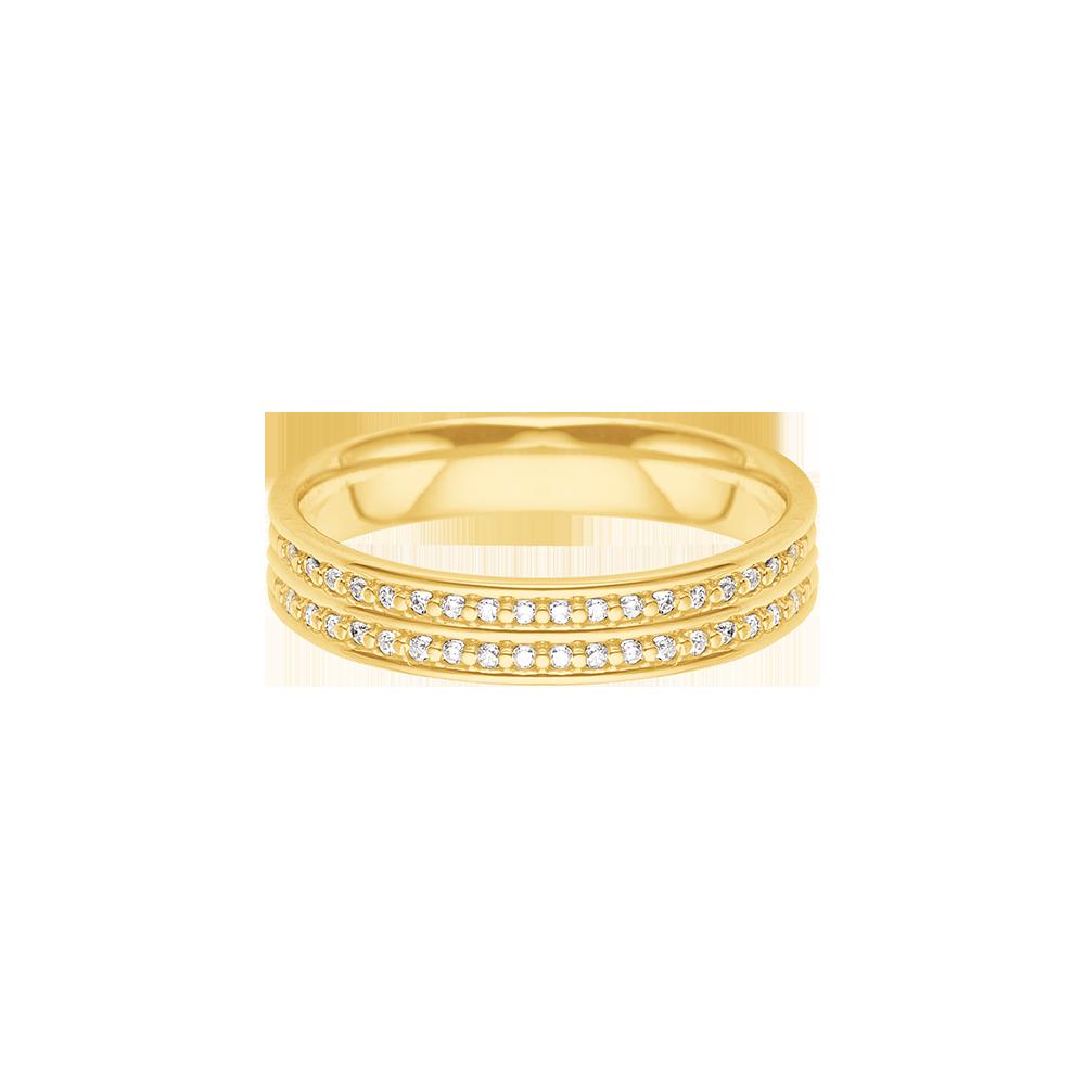 f7ed8022a6178 Aliança de Casamento Ouro Amarelo e Diamantes - Colecao Always