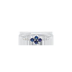 3d6f324fc19 Anel Ouro Branco Diamantes e Safira. Anel Ouro Branco Diamantes e Safira. Coleção  Classic Oriental