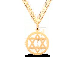 bd2c84693c9fe Pingente Estrela de Davi Ouro Amarelo