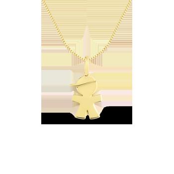 Pingente Menino de Boné Ouro Amarelo f065a6da47