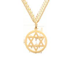 Pingente Estrela de Davi Ouro Amarelo 79fb9dbd9b