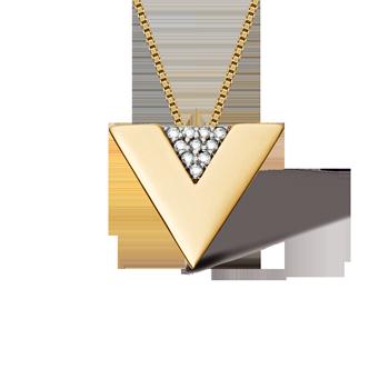 4686aa606b350 Pingente Ouro Amarelo e Diamantes. Coleção Vivara