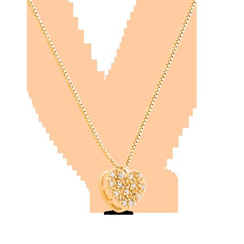 dd8a311b4d09d ... PingentesPingente coração ouro amarelo e diamantes - coleção mama.  Passe o mouse para ampliar. Confira o estoque deste produto nas lojas