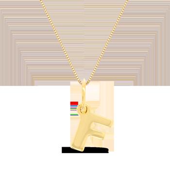 Pingente Letra F Ouro Amarelo - Colecao Letras 7a5c974925