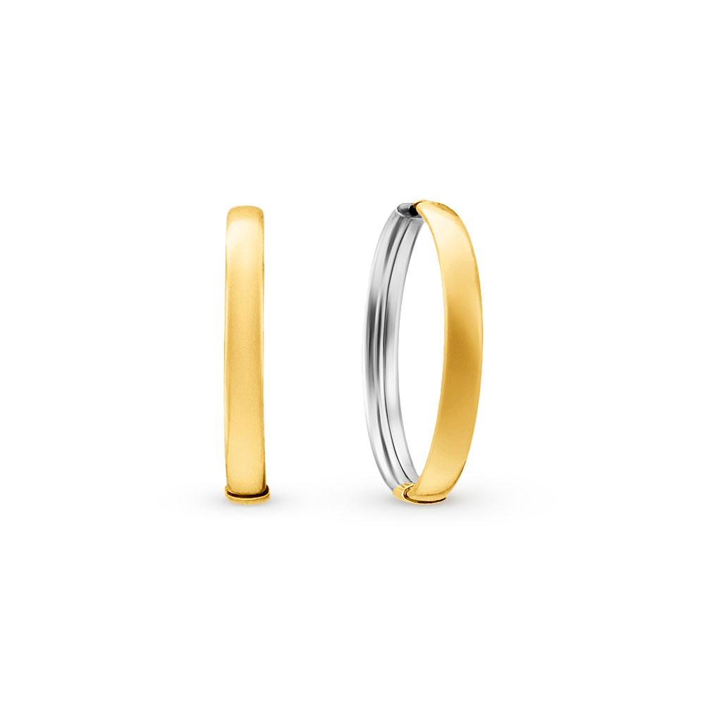 897ddf842adb4 Argola Ouro Amarelo e Ouro Branco - Colecao Argolas