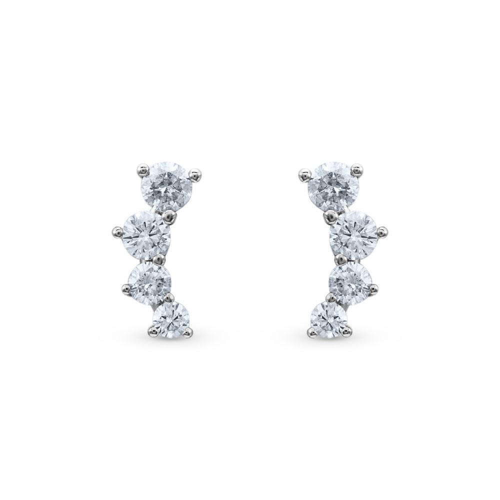 6954ad9a427f7 Brinco Ear Cuff Ouro Branco e Diamantes - Colecao Ear cuff