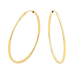 5b72e3b8dfa5f Argola Fina Ouro Amarelo - Colecao Argolas