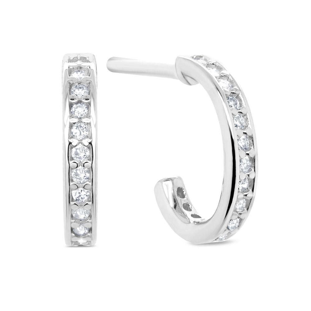 3a4c20c1687b2 Argola Ouro Branco e Diamantes - Colecao Argolas