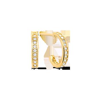 ff531c8c8b105 Argola Ouro Amarelo e Diamantes