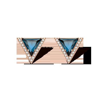 1e1287bba167b Brinco Ouro Rosé e Topázios London e Diamantes
