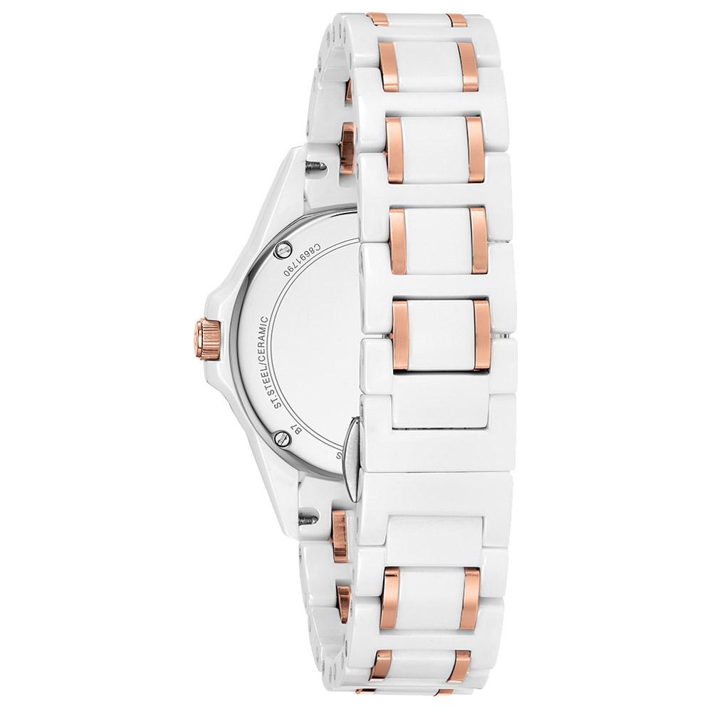 59c4e2cdafd Vivara Relógios Relógio bulova feminino cerâmica branca e rosé - 98r241.  Passe o mouse para ampliar. Confira o estoque deste produto nas lojas