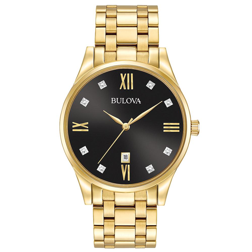 3cd9c8689d9 Relógio Bulova Masculino Aço Dourado - 97D108
