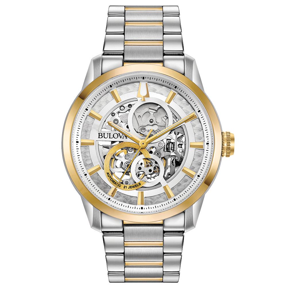 bac960bce30 Relógio Bulova Masculino Aço Prateado e Dourado - 98A214