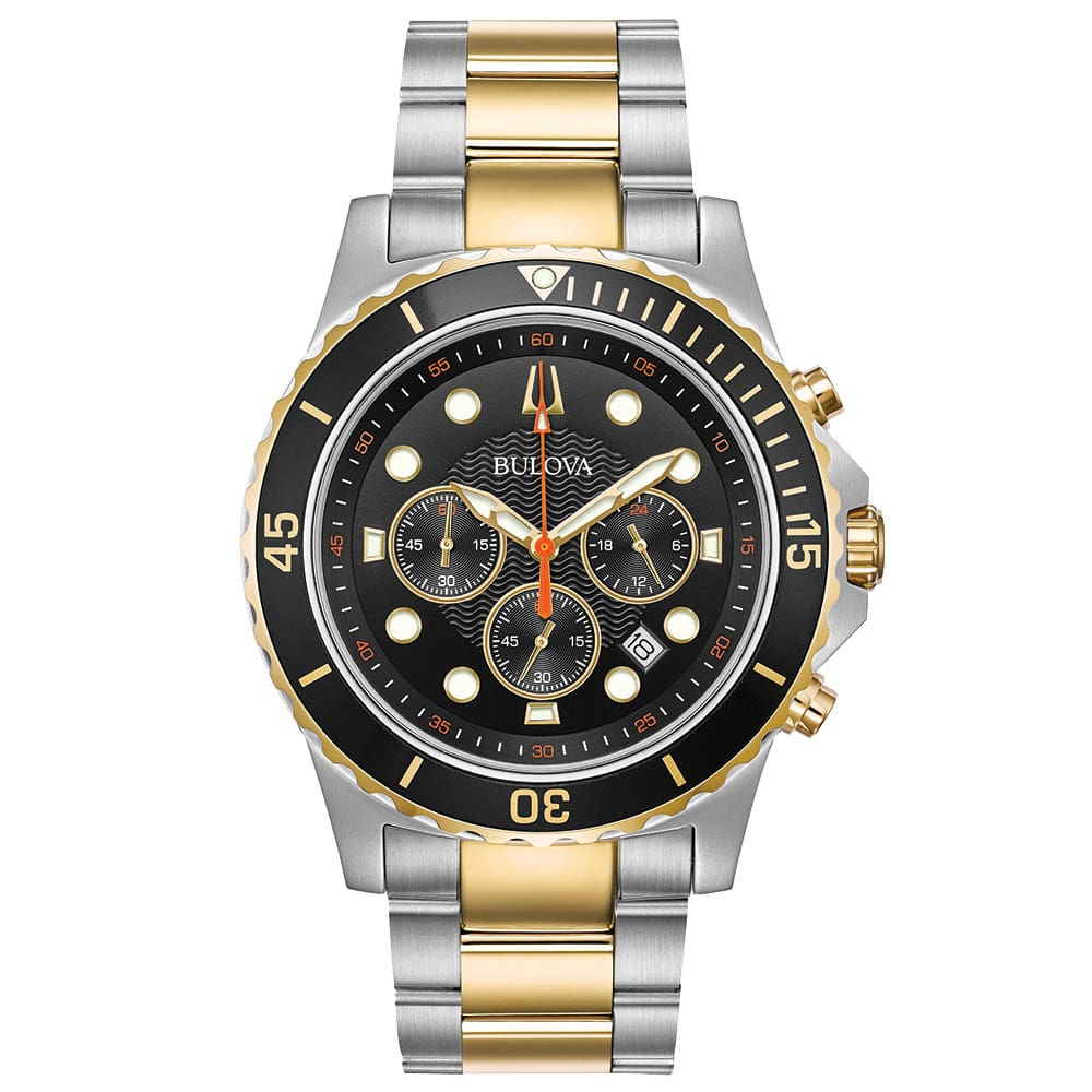 54baff438db Relógio Bulova Masculino Aço Prateado e Dourado - 98B327