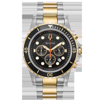 76b35ca4239 Relógio Bulova Masculino Aço Prateado e Dourado - 98B327