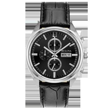 26d0976d84c Relógio Bulova Masculino Couro Preto - 96C133