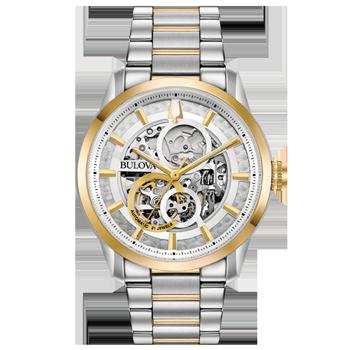 da90bcd0095 Relógio Bulova Masculino Aço Prateado e Dourado - 98C124