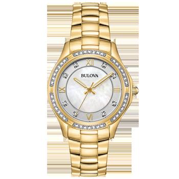 cb07157e4d7 Relógio Bulova Feminino Aço Dourado - 98L256