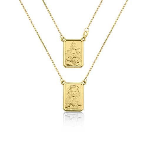 Escapulário Ouro Amarelo - Colecao Medalhas 18fe75944c