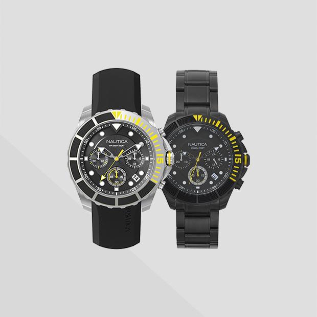 b66a0e01f2a Relógio Nautica Masculino Aço Prateado e Dourado - NAPSTB005WW