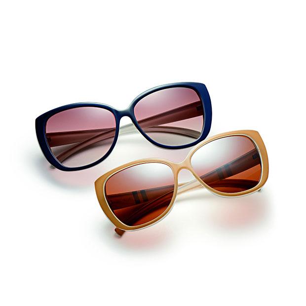 3d11620e2fe28 Óculos de Sol Gatinho em Acetato Azul e Nude - Colecao Vivara + Salinas