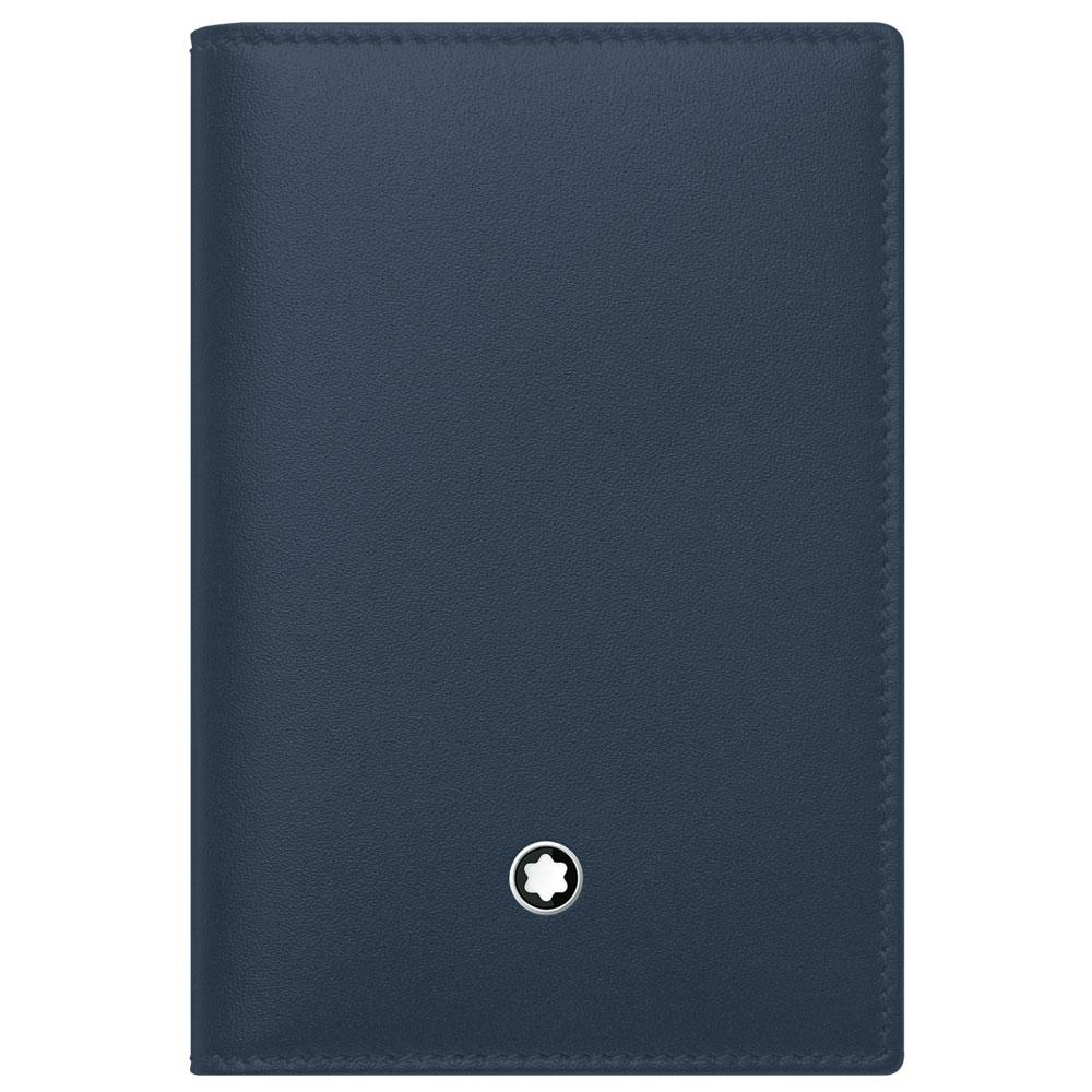 991f8be89f Porta-Cartões Montblanc Meisterstück Masculino Couro Azul e Marrom - 118306