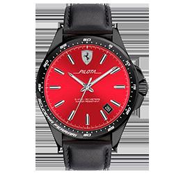 cacf70e140e Relógio Scuderia Ferrari Masculino Couro Preto - 830525