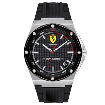 7b26b202193 Relógio Scuderia Ferrari Masculino Borracha Preta - 830529