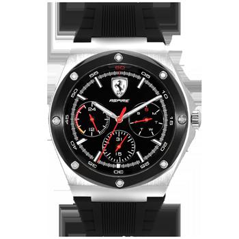 99ee3c51b24 Relógio Scuderia Ferrari Masculino Borracha Preta - 830578