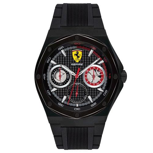 4e68e58b7f3 Relógio Scuderia Ferrari Masculino Borracha Preta - 830538