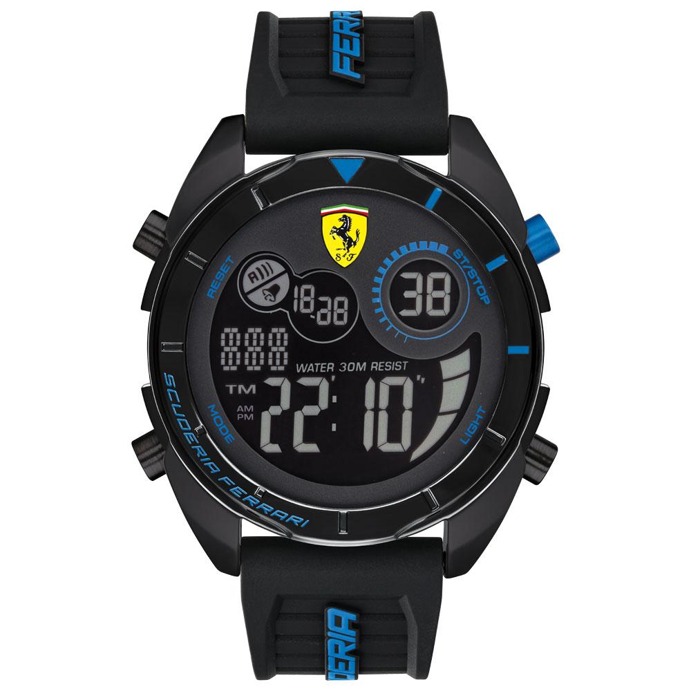 6919a3658c4 Relógio Scuderia Ferrari Masculino Borracha Preta - 830550