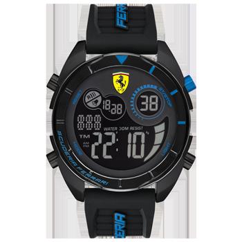 ca083fe4758 Relógio Scuderia Ferrari Masculino Borracha Preta - 830550