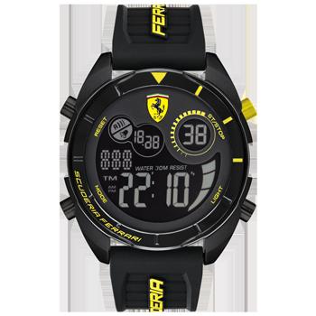 759bef0a589 Relógio Scuderia Ferrari Masculino Borracha Preta - 830552