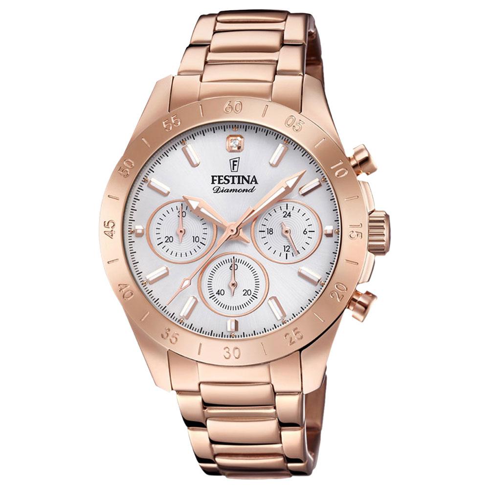 26a90889f6d Relógio Festina Feminino Aço Rosé - F20399 1