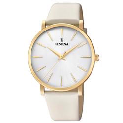 71c94848c9c Relógio Festina Feminino Couro Branco - F20372 1