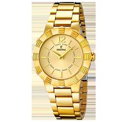 f1628efd912 Relógio Festina Feminino Aço Dourado - F16732 2