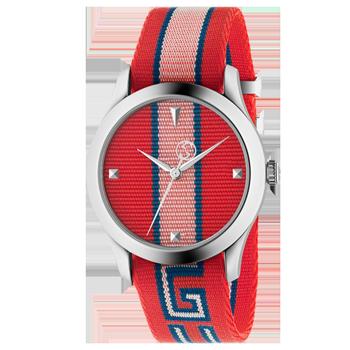 Relógio Gucci Feminino Nylon Vermelho - YA1264070 6de47a1ffe