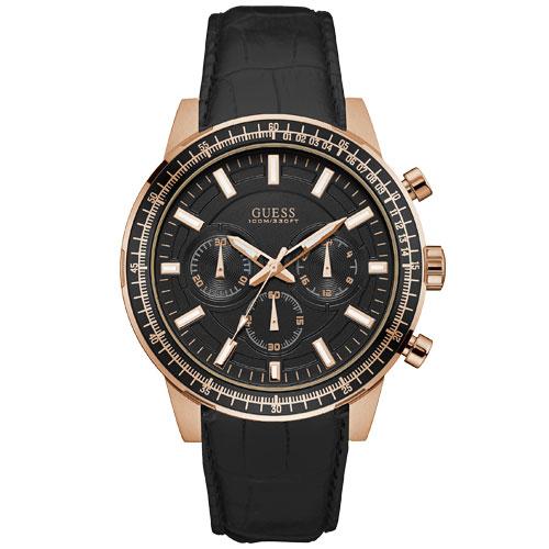 bfb52a181ce Relógio Guess Masculino Couro Preto - W0867G1