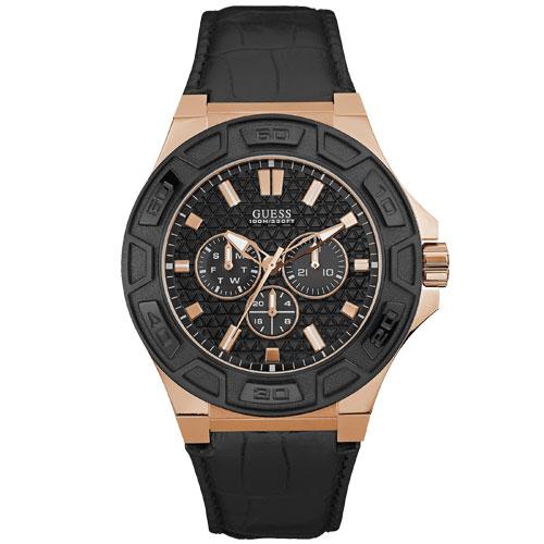 5cd1c62e5bf Relógio Guess Masculino Couro Preto - W0674G6