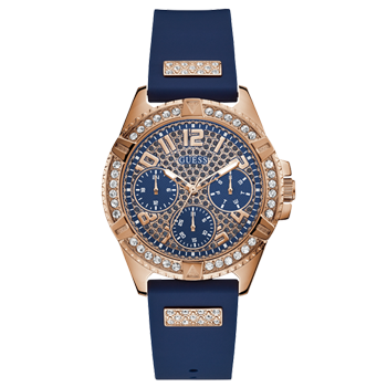 d9301be9202 Relógio Guess Feminino Borracha Azul - W1160L3